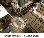 birds eye view of 5th avenue  a ... | Shutterstock . vector #633551081