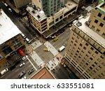 birds eye view of 5th avenue  a ... | Shutterstock . vector #633551081