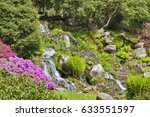 Waterfall With Water Flowing...
