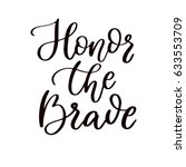 memorial day vector hand... | Shutterstock .eps vector #633553709