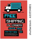 free shipping on orders above... | Shutterstock .eps vector #633554801