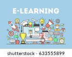 e learning concept illustration.... | Shutterstock . vector #633555899