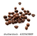 coffee beans on white background | Shutterstock . vector #633565889