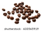 coffee bean background isolated | Shutterstock . vector #633565919