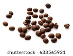 coffee beans isolated.   Shutterstock . vector #633565931