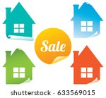 set of colored stickers sale of ... | Shutterstock . vector #633569015