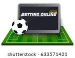 concept for web banner sports... | Shutterstock .eps vector #633571421