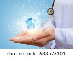 global medical network in the... | Shutterstock . vector #633573101