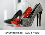 women's shoes at the shop | Shutterstock . vector #63357409