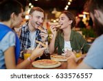 group of cheerful friends... | Shutterstock . vector #633576557