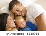 caucasian mid adult parents... | Shutterstock . vector #6335788