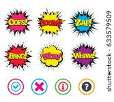 comic wow  oops  boom and wham... | Shutterstock .eps vector #633579509