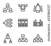 organization icons set. set of... | Shutterstock .eps vector #633584237