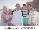 portrait of multi generated... | Shutterstock . vector #633585029