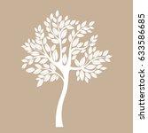 vector icon tree illustration... | Shutterstock .eps vector #633586685