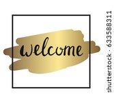 welcome lettering sign | Shutterstock .eps vector #633588311