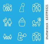 mom icons set. set of 9 mom... | Shutterstock .eps vector #633593321