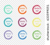 art stroke frame set. sample... | Shutterstock .eps vector #633599051