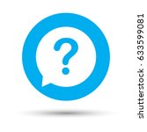 question mark sign icon. help... | Shutterstock .eps vector #633599081