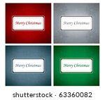 set of christmas wish cards... | Shutterstock .eps vector #63360082
