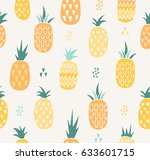vector summer pattern with... | Shutterstock .eps vector #633601715
