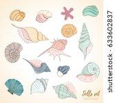 summer paradise holiday marine... | Shutterstock .eps vector #633602837