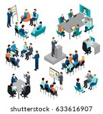 isometric coaching characters... | Shutterstock .eps vector #633616907