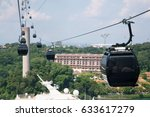 traveling with cable car. | Shutterstock . vector #633617279