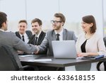 members of the management board ... | Shutterstock . vector #633618155