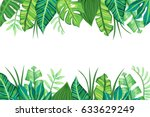 isolated tropical background... | Shutterstock .eps vector #633629249