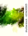 brushed painted abstract... | Shutterstock . vector #633630005