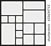 vector frames photo collage | Shutterstock .eps vector #633634715