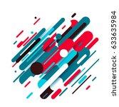 vector illustration of dynamic... | Shutterstock .eps vector #633635984