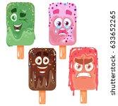 vector ice cream set of... | Shutterstock .eps vector #633652265