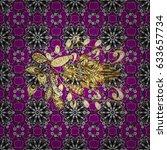 seamless golden textured curls. ...   Shutterstock .eps vector #633657734