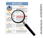 vector illustration cv  resume... | Shutterstock .eps vector #633658391