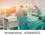 blur of surgeons team working... | Shutterstock . vector #633660521