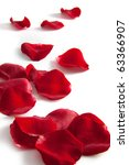 Stock photo rose petals isolated on white 63366907