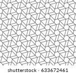 geometric seamless pattern | Shutterstock .eps vector #633672461