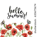 Watercolor Floral Card With...
