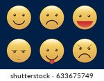 set of emoticons  icon pack ... | Shutterstock .eps vector #633675749