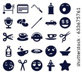 clipart icons set. set of 25