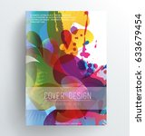 book cover design template with ... | Shutterstock .eps vector #633679454