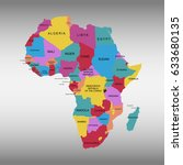 map of africa | Shutterstock .eps vector #633680135