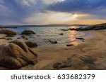sunrise in ammouliani island ... | Shutterstock . vector #633682379