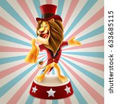 lion for circus   Shutterstock .eps vector #633685115