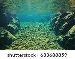 rocks and pebbles underwater in ... | Shutterstock . vector #633688859