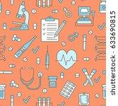 medical seamless pattern ... | Shutterstock .eps vector #633690815