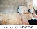 construction worker installing... | Shutterstock . vector #633699545