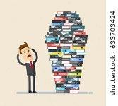 businessman or employee work... | Shutterstock .eps vector #633703424